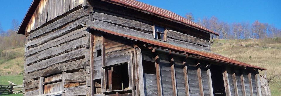 Big picture of Log Home - Before restoration